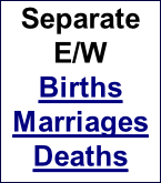 Separate E/W  Births Marriages Deaths